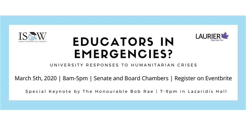Educators in Emergencies? University Responses to Humanitarian Crises