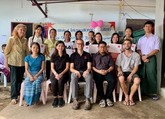 IIE and Mae Sot Staff with students